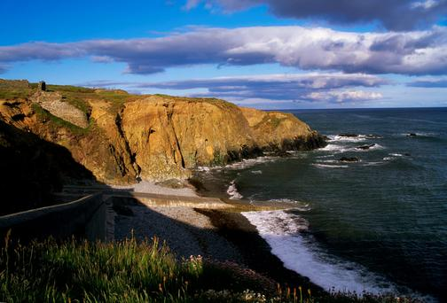 Must see: The Copper Coast stretches from Killafarrsy, near Tramore, to Stradbally, near Dungarvan, Co. Waterford and is a Unesco global geopark