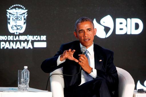 US President Barack Obama delivers remarks to business leaders at the CEO Summit of the Americas in Panama City. Photo: Reuters
