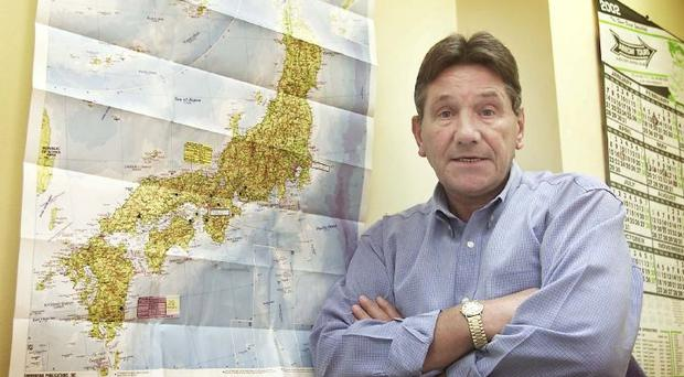 RAY TREACY PICTURED IN HIS TRAVEL AGENCY. PIC: AIDAN CRAWLEY