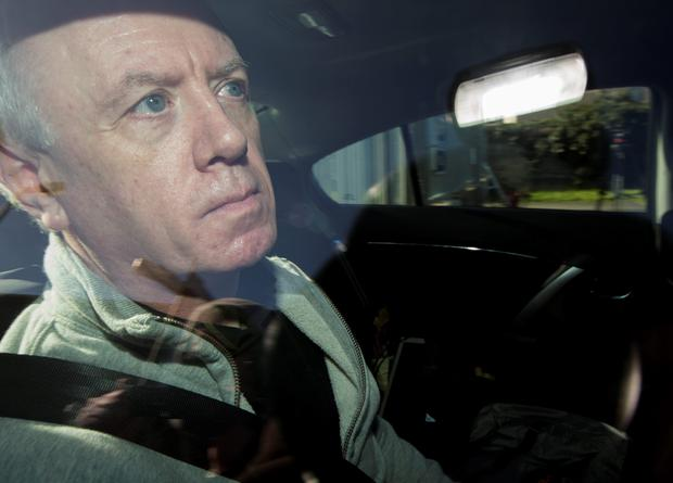 Convicted killer Eamonn Lillis walking free from Wheatfield Prison today, after serving five years for his wife Celine Cawley's death. Picture by Fergal Phillips.