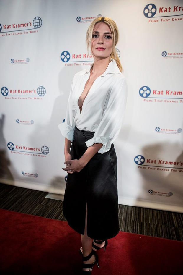 Mischa Barton attends the 7th Annual Annual Kat Kramer's Films That Change The World Screening Series at The Canon USA, Inc. Screening Room