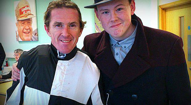 Mark with 20-time champion jockey Tony McCoy after he rode his horse Mardale at Doncaster