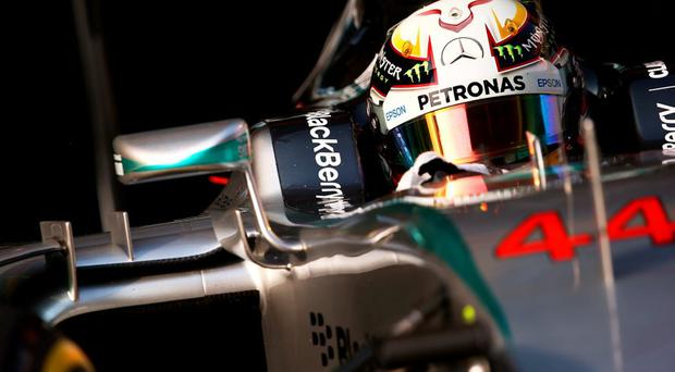 Lewis Hamilton during qualifying for the Formula One Grand Prix of China at Shanghai International Circuit (Photo by Mark Thompson/Getty Images)