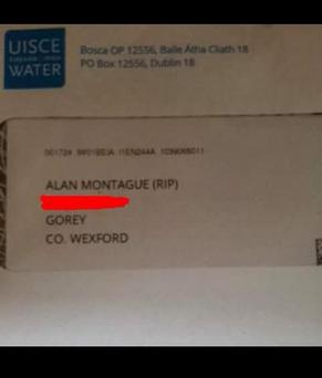 The 'RIP' letter was posted on Facebook Credit: Jessica Montague