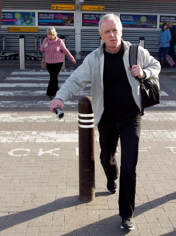 Eamonn Lillis leaving Southampton airport Photo: Gerard Farrell/DZ Pictures