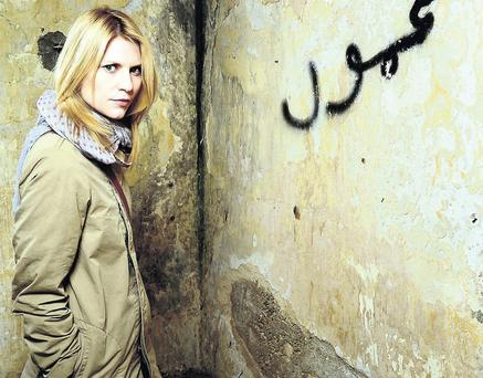 RUFFLING FEATHERS: Actress Claire Danes as the brilliant but troubled CIA spy Carrie Mathisonbean