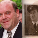 Left, Former U2 manager Paul McGuinness, and right, his late father Phillip.