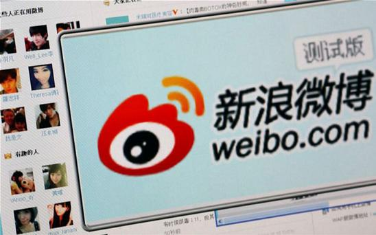 Sina's microblog website 'Weibo' is among most popular in China Credit: Reuters