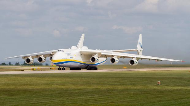 The world's largest plane, Antonov An-225, which is paying a flying visit to Shannon Airport today. File photo.