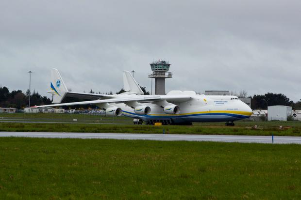 The Antonov 225 'Mriya', meaning 'Dream', was first flown in 1988 Credit: Sean Curtin
