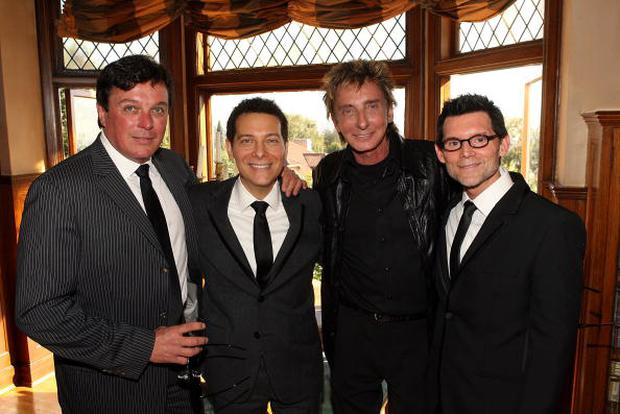 Garry Kief and Barry Manilow attend the wedding of Michael Feinstein and Terrence Flannery held at a private residence on October 17, 2008 in Los Angeles, California. (Photo by Jesse Grant/WireImage)
