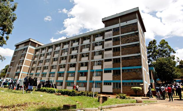 Students jumped from the windows at the University of Nairobi Credit: Thomas Mukoya