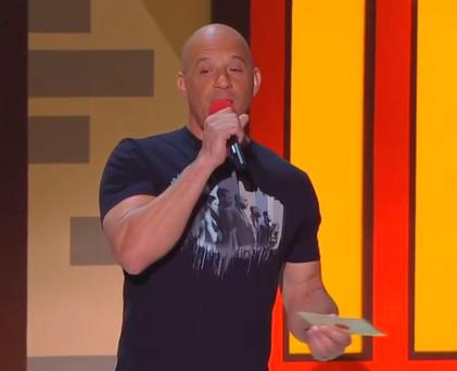 Vin Diesel sings for Paul Walker at the MTV Movie Awards