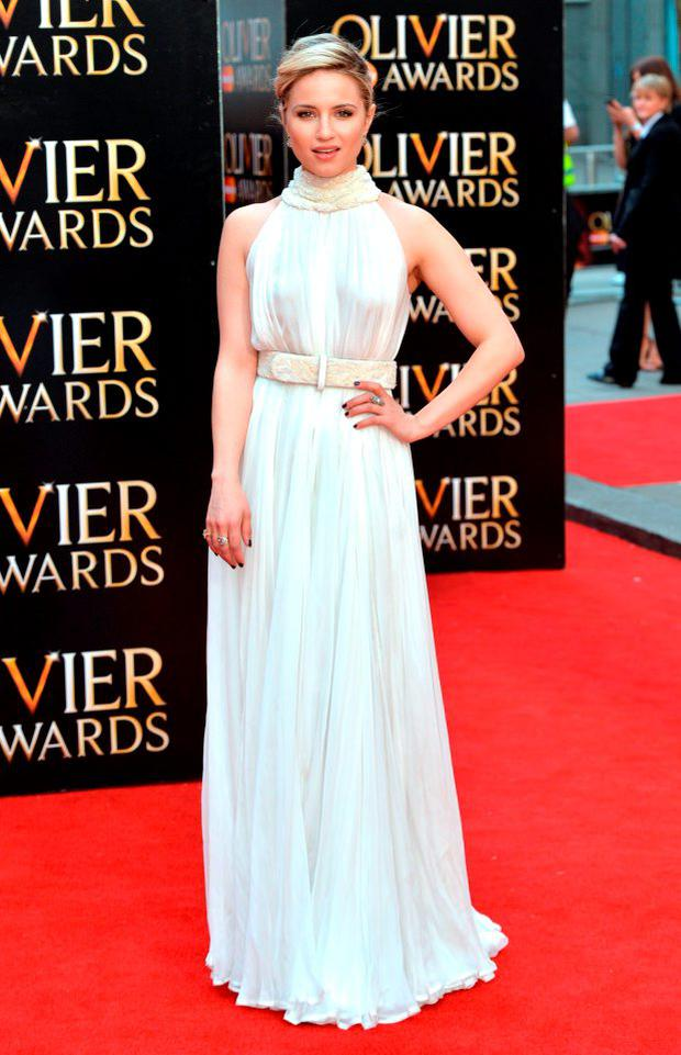 Dianna Agron attends The Olivier Awards at The Royal Opera House on April 12, 2015 in London, England. (Photo by Anthony Harvey/Getty Images)