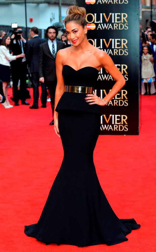 Nicole Scherzinger attends The Olivier Awards at The Royal Opera House on April 12, 2015 in London, England. (Photo by Anthony Harvey/Getty Images)