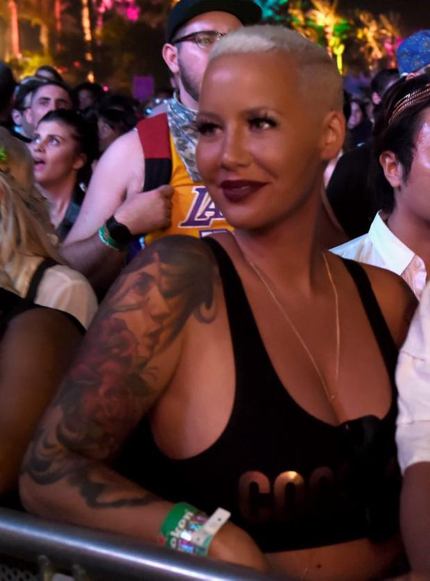 Model Amber Rose attends day 2 of the 2015 Coachella Valley Music & Arts Festival (Weekend 1) at the Empire Polo Club