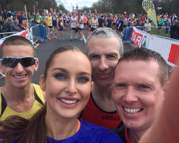 Rozanna Purcell tweeted this photo before the Great Ireland Run. Photo: Twitter/@RozannaPurcell