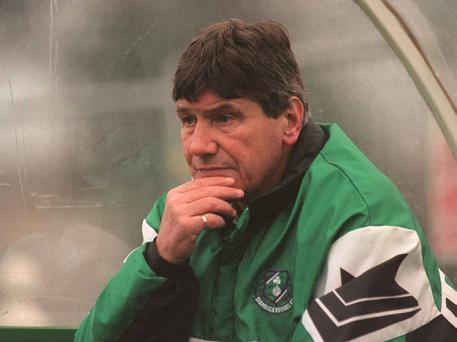 The late Ray Treacy during his days as Shamrock Rovers manager