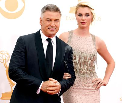 Actor Alec Baldwin and daughter Ireland at the 2013 Emmys