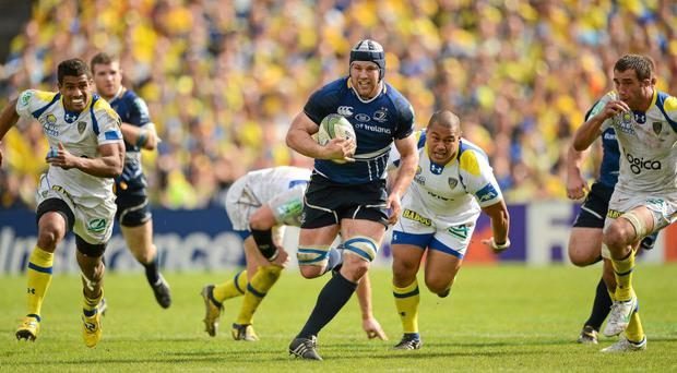 Sean O'Brien goes on a run against the Clermont Auvergne defence in their Heineken Cup semi-final win on 2012
