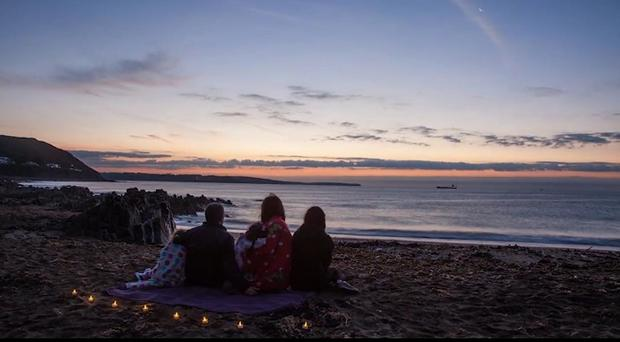 The Byrne family recentlyslept beneath the stars and watched the sunrise.