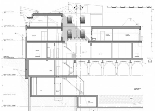 Plans for an extension pictured above were rejected