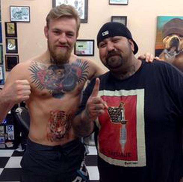 Conor McGregor's latest tattoo is a tiger on his stomach
