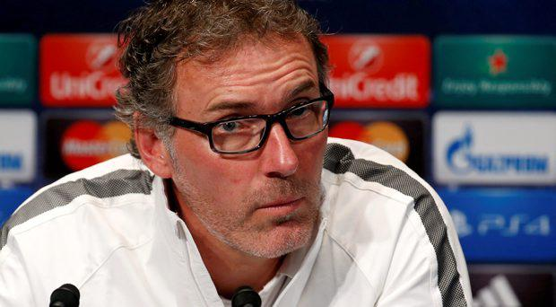 Paris St Germain's head coach Laurent Blanc