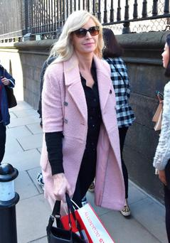 A day after her ex-husband Ronan Keating announced his engagement to Storm Uechtritz, Yvonne Keating spotted walking on Nassau Street