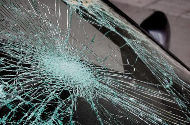 Car vandals smashed the windows. File picture
