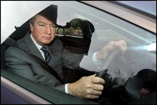 Brian O'Donnell leaving Gorse Hill in Killiney for court at 8.30am this morning. Photo: Steve Humphreys
