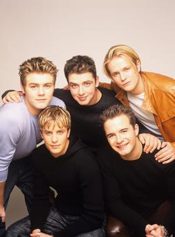 Westlife (Brian McFadden, Nicky Byrne, Kian Egan, Mark Feehily and Shane Filan), pop group, circa 2000. (Photo by Tim Roney/Getty Images)