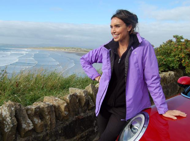 Pictured: Christine Bleakley at Rossnowlagh on the Atlantic Coast