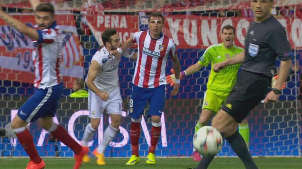 The incident in the match where Dani Carvajal was accused of biting Mario Mandzukic
