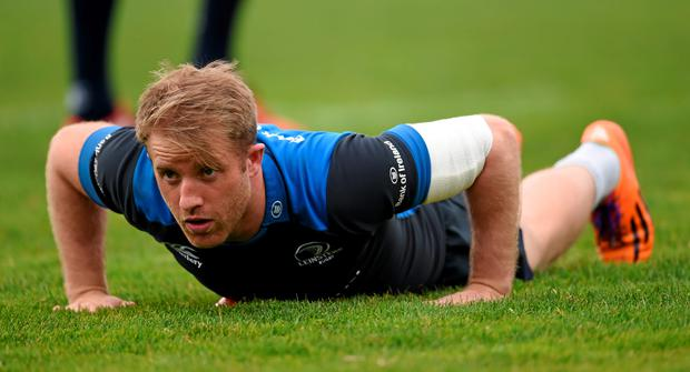 Luke Fitzgerald in action during training ahead of Sunday's clash with Toulon