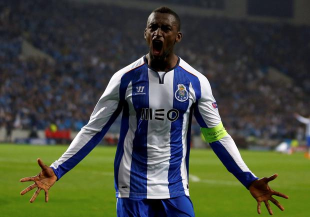 Porto's Jackson Martinez celebrates after scoring against Bayern Munich