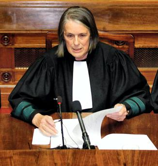 SWING VOTE: Chief Justice Susan Denham agreed with the three judges who allowed the DPP's appeal