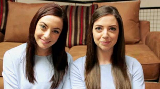Niamh Geaney and Karen Branigan who are twin strangers