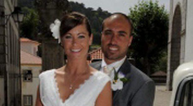 Meadhbh Caseiro and husband Paolo. Meadhbh lost her engagement and wedding rings while out jogging in Dublin