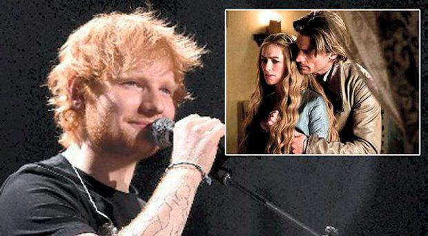 Ed Sheeran, inset, Game of Thrones