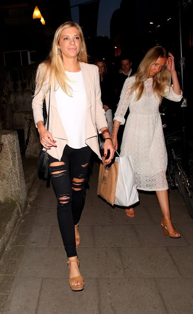 Chelsy Davy leaving The Royal Academy on April 15, 2015 in London, England. (Photo by Mark Robert Milan/GC Images)