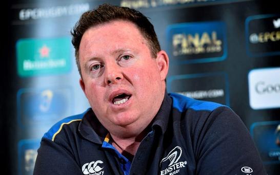 Leinster head coach Matt O'Connor during a press conference at Leinster Rugby Offices, UCD, Belfield, Dublin. Picture credit: Ramsey Cardy / SPORTSFILE