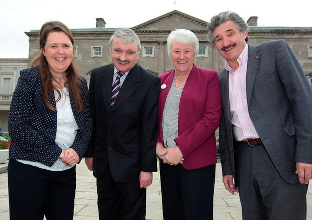 (Left to Right) Joanna Tuffy-(Labour-Dublin South West) Willie O Dea (Fianna Fail-Limerick City) John Halligan (Independent-Waterford) Catherine Byrne (Fine Gael -Dublin South Central) All take part in Tv3's series