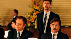 John C Reilly, Ben Whishaw, and Colin Farrell in The Lobster