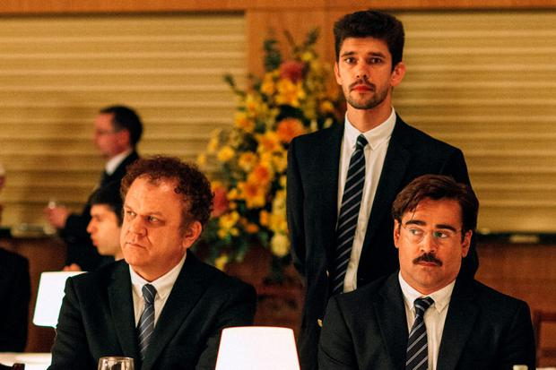 John C Reilly, Ben Whishaw, and Colin Farrell in The Lobster which will premiere at Cannes