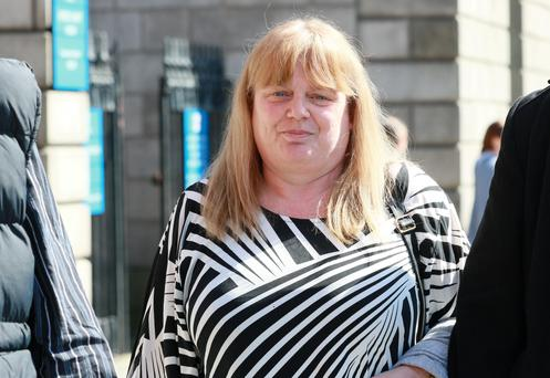 Pamela Duffy, of Shanganagh Woods, Shankill, Co Dublin pictured leaving the Four Courts Pic: Courts Collins