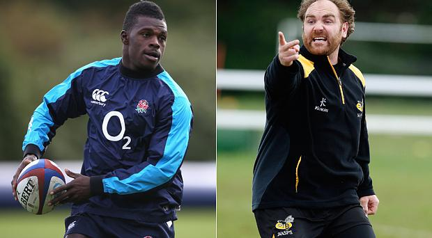 Row: Christian Wade (left) has been criticised by his Wasps teammate Andy Goode for failing to attend a charity event