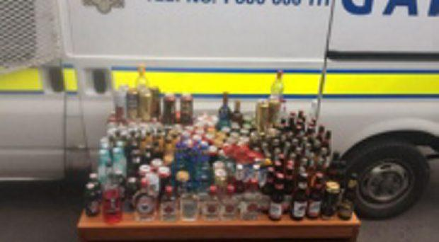 Just some of the alcohol seized by gardai at Portmarnock beach