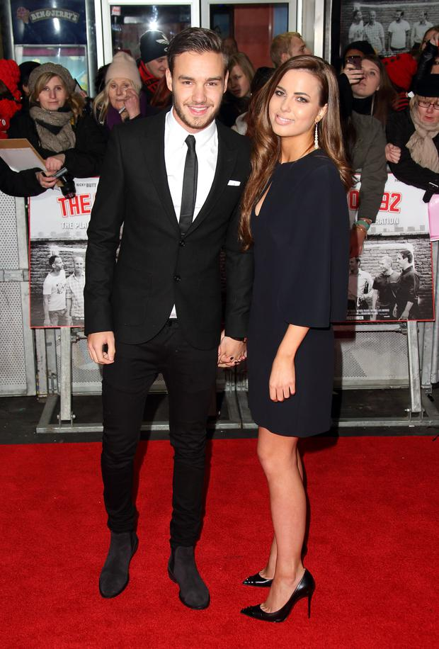 Liam Payne and Sophia Smith attend the World premiere of