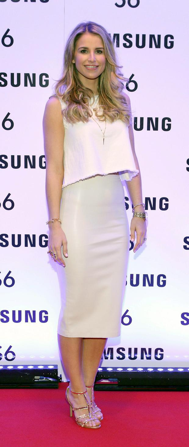 Vogue Williams at the exclusive launch party for the Samsung Galaxy S6 at The Marker Hotel, Grand Canal Square , Dublin Pic:Brian McEvoy No repro fee for one use